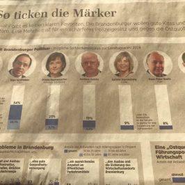 FDP in Brandenburg bei 5 bis 7 %